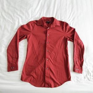 Red Apt.9 Slim Fit Button Down Men's